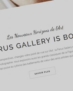 Un nouveau site pour la galerie