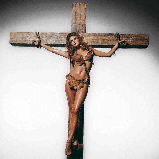 Raquel on the cross