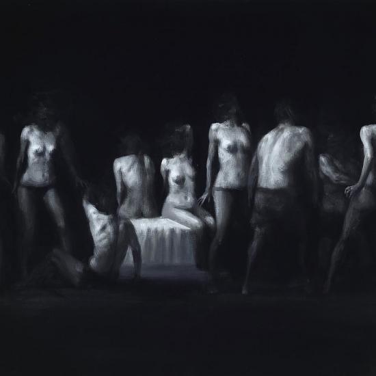 Xavier Jambon, L'Eveil, 2017, acrylique sur toile, 140 x 70 cm