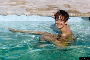 Actress Audrey Hepburn, pictured in the South of France during the filming of 'Two for the Road' on 4th September 1966.