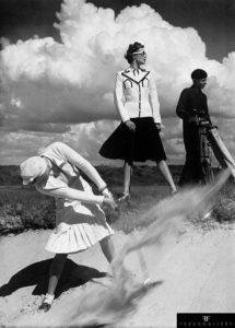 Simpson's suits photographed at the links for Harper's Bazaar, Le Touquet, 1939.