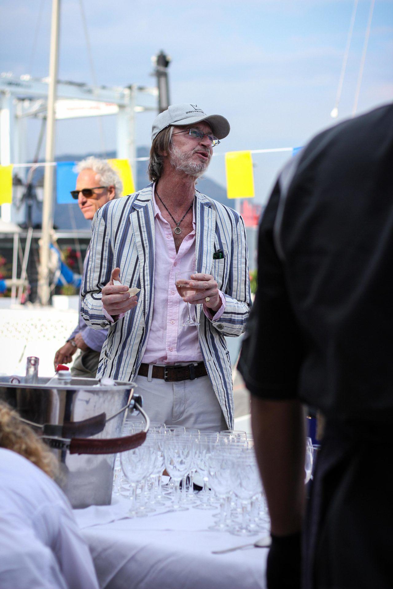 Alain Rodier durant le cocktail