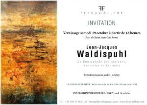 Carton d'invitation au vernissage de Jean-Jacques Waldispuhl à la Ferus Gallery