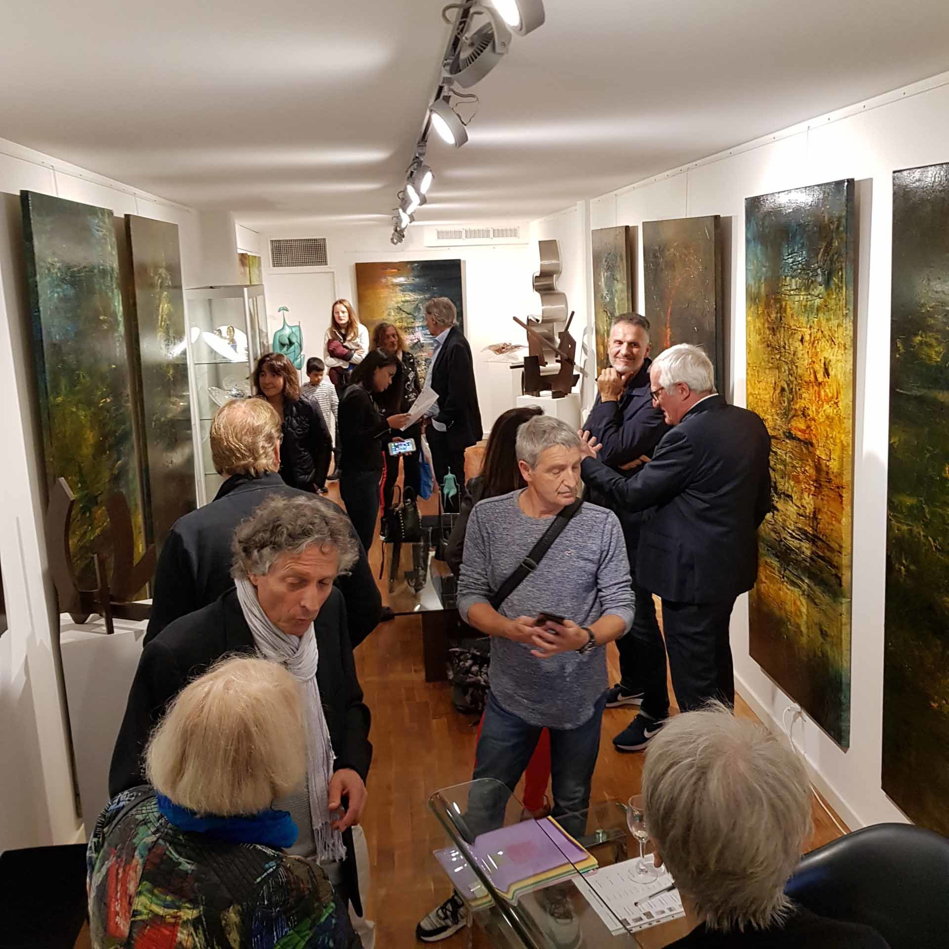 Vernissage de l'exposition de Jean-Jacques Waldispuhl à la Ferus Gallery
