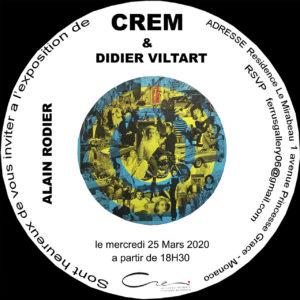 Invitation exposition Alain Rodier au CREM de Monaco