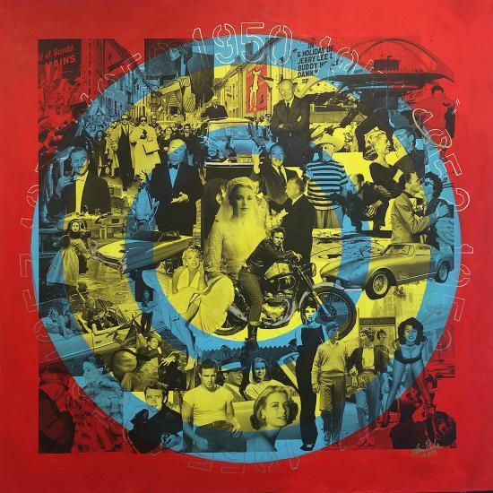 Les fifties, une peinture d'Alain Rodier