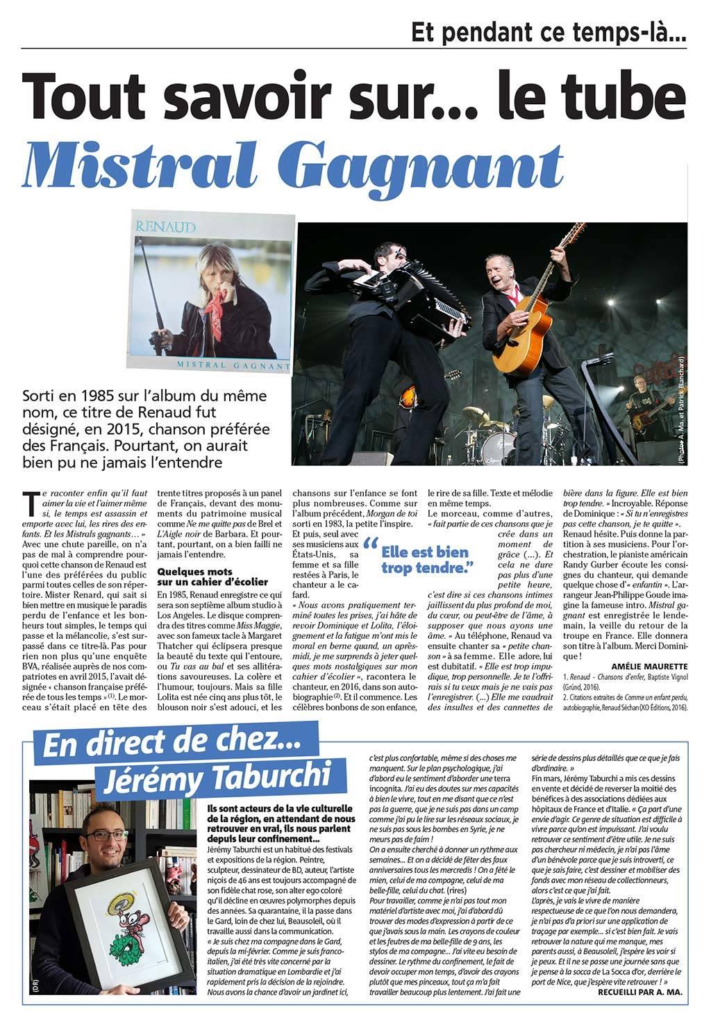 article Nice Matin sur Jérémy Taburchi
