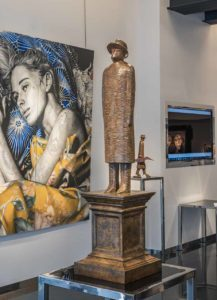 A sculptor exhibition in Monaco